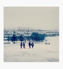 Harle Syke in the snow Photographic Print
