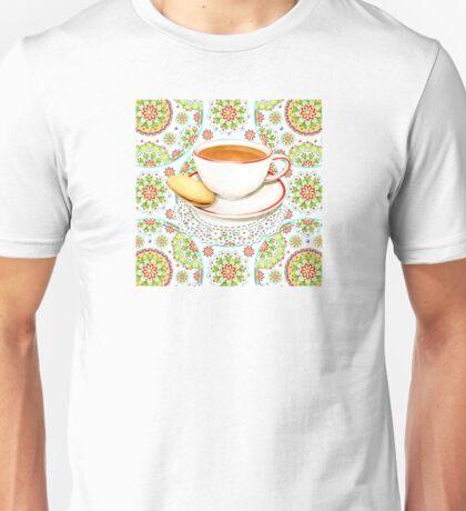 Cup of Tea on Mandala Cloth T-Shirt