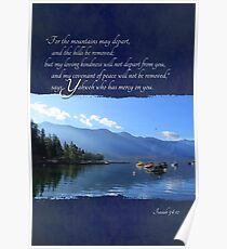 My Loving Kindness Will Not Depart from You - Card Poster