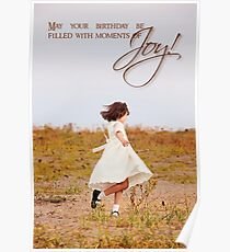 Dancing with Joy - Birthday Card Poster