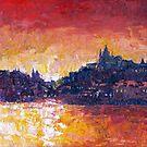 Prague Red Panorama by Yuriy Shevchuk