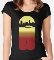 Slice of Life (Yellow/Red) Women's Fitted Scoop T-Shirt