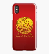 Year of The Horse Papercut iPhone Case