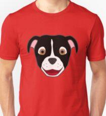 Black Pitbull Face with Blaze T-Shirt
