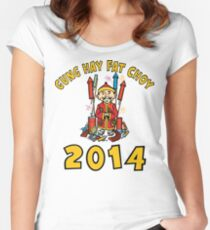 Happy Chinese New Year 2014 Women's Fitted Scoop T-Shirt