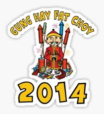 Happy Chinese New Year 2014 Sticker