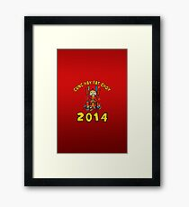 Happy Chinese New Year 2014 Framed Print