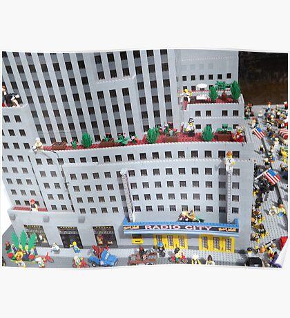 Lego Radio City Music Hall, Lego Rockefeller Center Store, New York City Poster