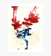 Ink in water Art Print