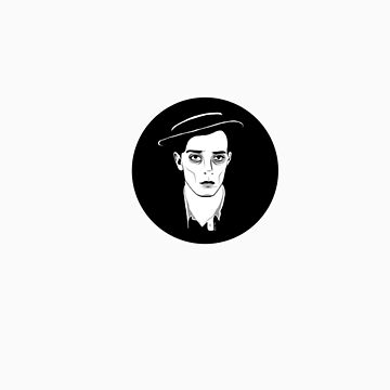 Buster Keaton-Round Sticker by ChickNugs