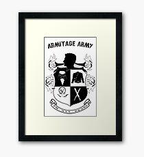 Armitage Army CoA -txt- Framed Print