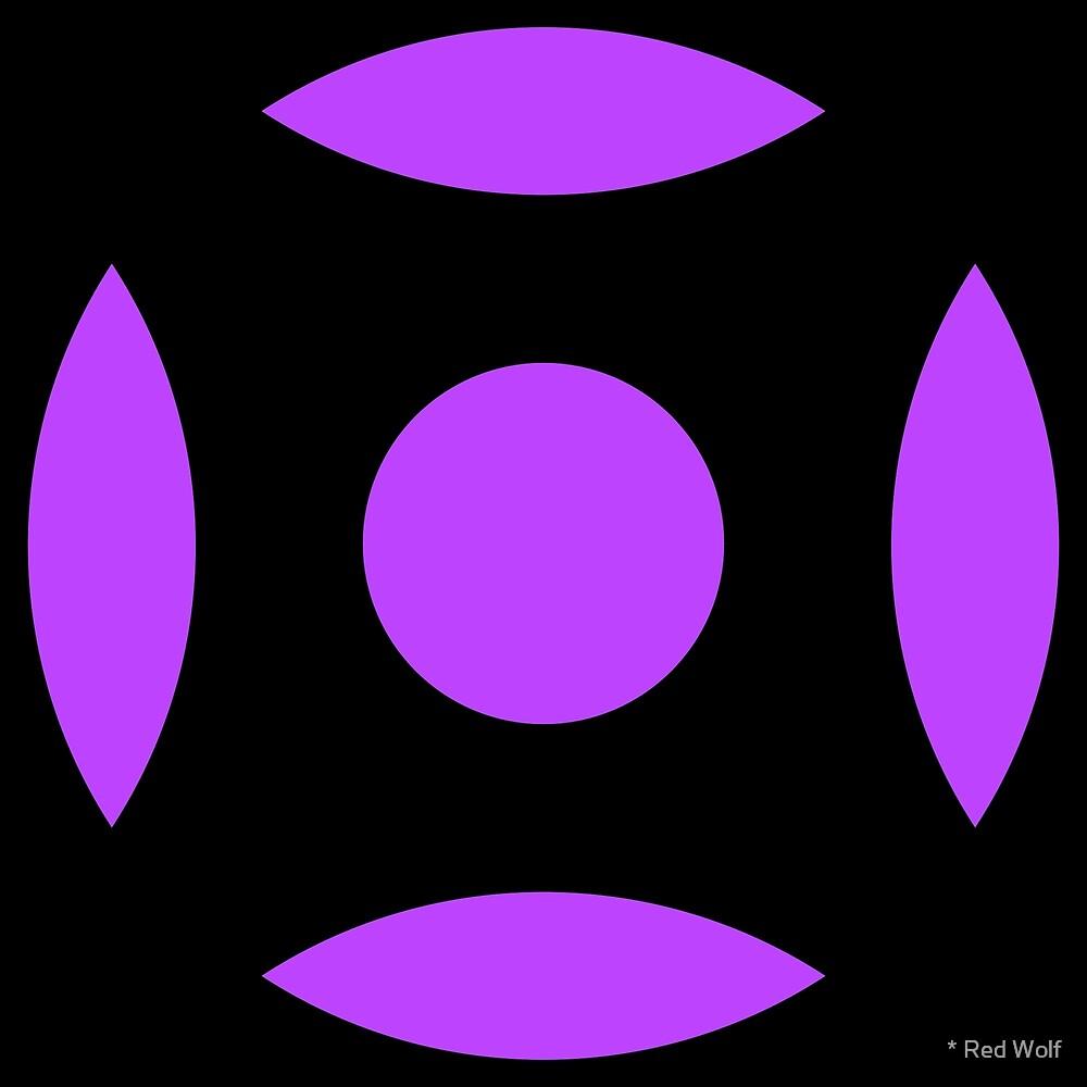 Geometric Pattern: Intersect Circle: Black/Purple by * Red Wolf