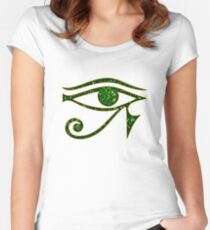 EYE of Horus/ Ra, reverse moon eye of Thoth/ Women's Fitted Scoop T-Shirt