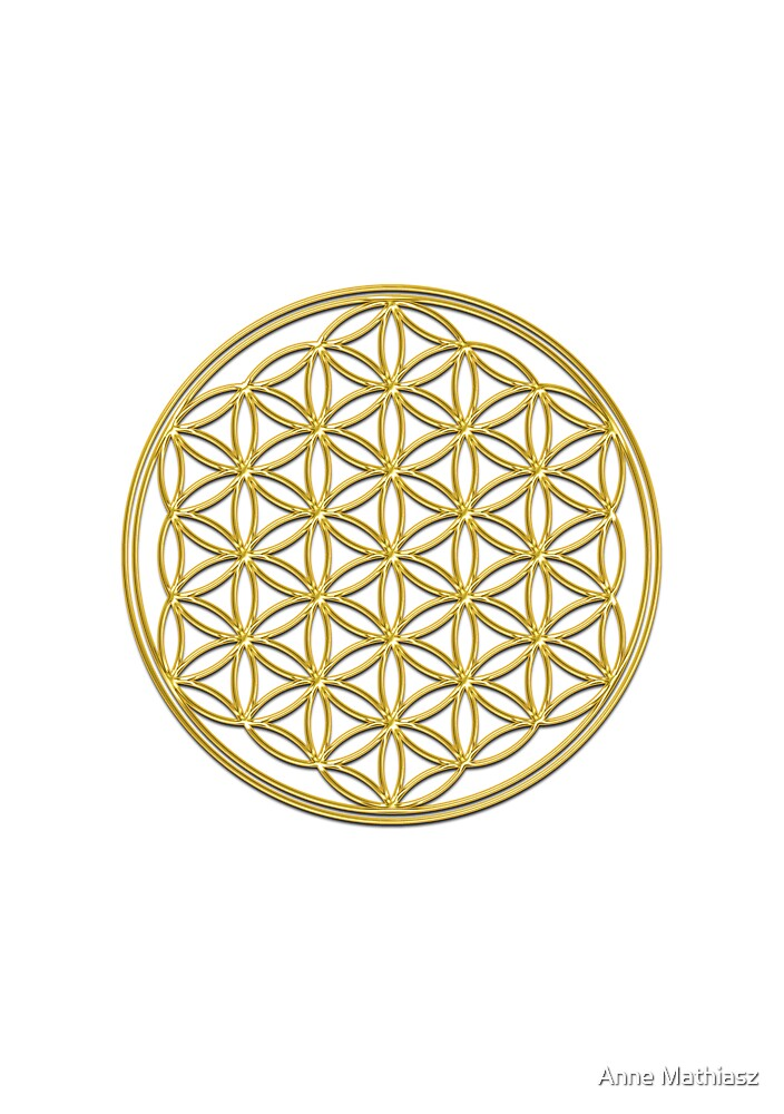 Flower of life, sacred geometry, energizing & purification by Anne Mathiasz