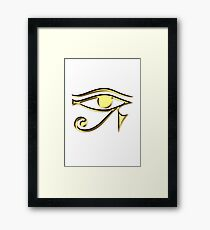 EYE of Horus, Protection & Wisdom Framed Print