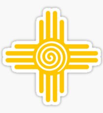 Zia Sun - Zia Pueblo - New Mexico Sticker