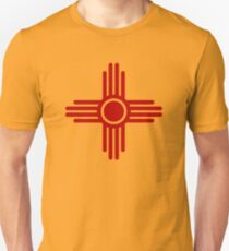 Zia Sun - Zia Pueblo - New Mexico Slim Fit T-Shirt