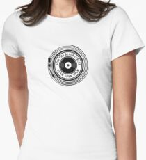 Spin the black circle Women's Fitted T-Shirt