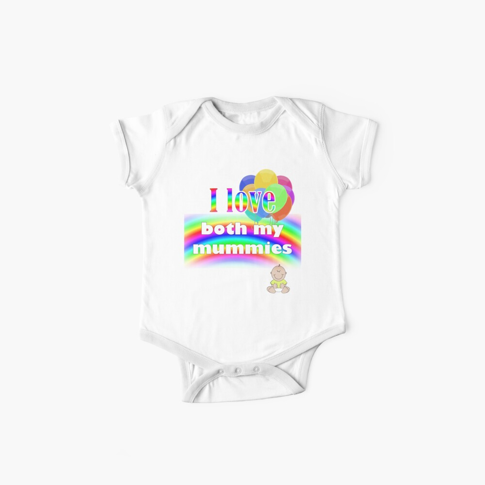 I love both my mummies: lesbian parenting Baby One-Pieces