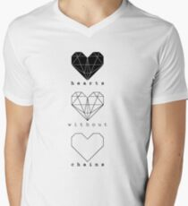 Hearts without chains Men's V-Neck T-Shirt
