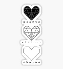 Hearts without chains Sticker