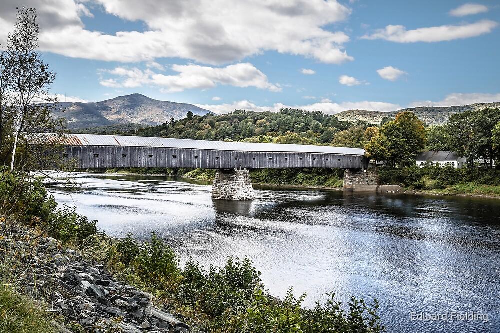 Cornish-Windsor Covered Bridge  by Edward Fielding