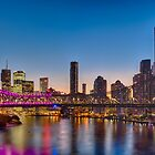 Story Bridge in 60th Coronation Colours by liming tieu