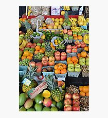 Fruit Stand Photographic Print