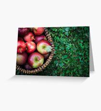 Apple Basket Greeting Card