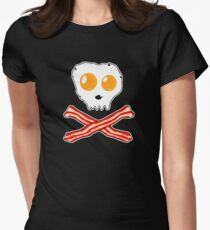 Bacon & Eggs Skull Women's Fitted T-Shirt