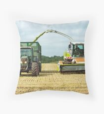 Farm Machinery, Forage Harvesting Throw Pillow