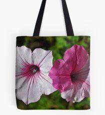 Two Tone Petunia Tote Bag