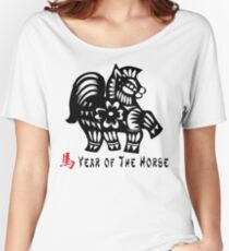 Year of The Horse Papercut Women's Relaxed Fit T-Shirt