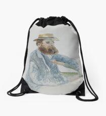 19th century watercolour portrait of EM Sneyd Kinnersley Drawstring Bag