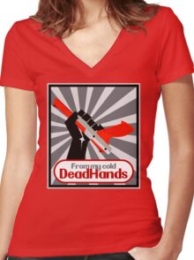 From my cold, dead hands! Women's Fitted V-Neck T-Shirt