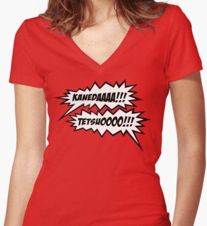 KANEDAAAAAA!!! TETSUOOOO!!! Women's Fitted V-Neck T-Shirt