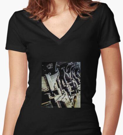 Steam Springs Women's Fitted V-Neck T-Shirt