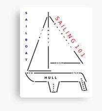 Sailing 101 - The sailboat Canvas Print