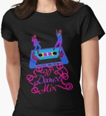 90's Dance Mix  Womens Fitted T-Shirt