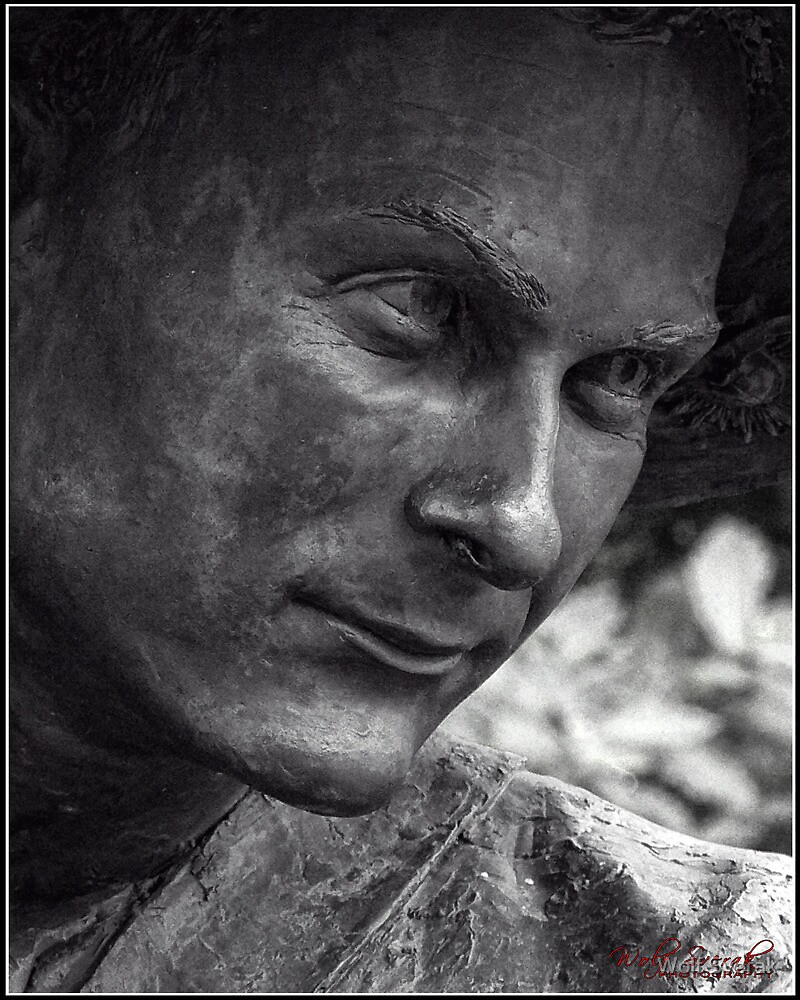 Stone Sculpture Portrait from the War Memorial in Canberra by Wolf Sverak