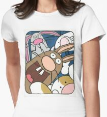 Awesome Bunny Photobooth #4 of 4 Women's Fitted T-Shirt