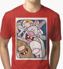 Awesome Bunny Photobooth #1 of 4 Tri-blend T-Shirt