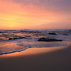 morning fire on the beach .. by gail woodbury