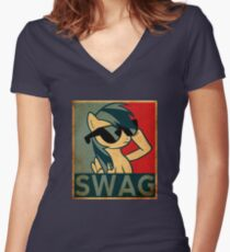 Rainbow Dash Swag Women's Fitted V-Neck T-Shirt
