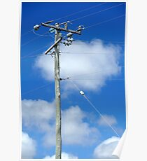 high powered pole Poster