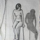 Lea, a seated nude by Samuel Ruth