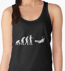 Evolution to Scuba Diver WHITE Women's Tank Top