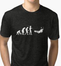 Evolution to Scuba Diver WHITE Tri-blend T-Shirt