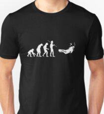 Evolution to Scuba Diver WHITE Slim Fit T-Shirt