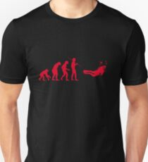 Evolution to Scuba Diver RED Slim Fit T-Shirt